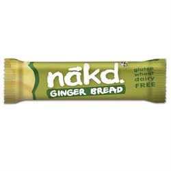 Ginger Bread Gluten Free Bar 35g (order 18 for retail outer)