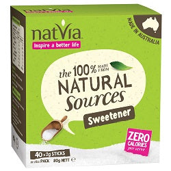 Natvia Sweetener 40 Sticks Box (order in singles or 4 for trade outer)