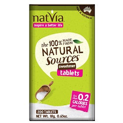 Natvia Sweetener 200 Tablets (order in singles or 12 for trade outer)