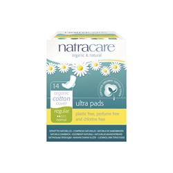 Natural Ultra Pads Regular with wings x 14 (order in singles or 12 for trade outer)