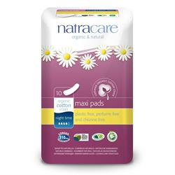 Natural Maxi Pads Night-time x 10 (order in singles or 12 for trade outer)