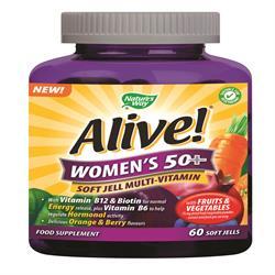 Alive! Women`s 50+ Soft Jells Multi-vitamin 60 Chewables (order in singles or 12 for trade outer)