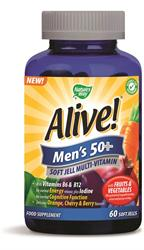 Alive! Men`s 50+ Multivitamin Soft Jells (order in singles or 12 for trade outer)