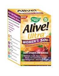 Alive! Ultra Women`s 50+ Multivitamin (order in singles or 12 for retail outer)