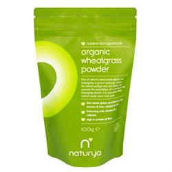 Organic Wheatgrass Powder 100g (order in singles or 8 for trade outer)