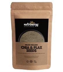 Milled Organic Chia & Flax Seeds Blend 200g (order in singles or 15 for trade outer)