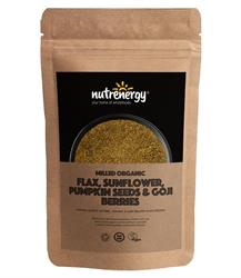 Milled Organic Flax, Sunflower, Pumpkin Seed & Goji Blend 200g (order in singles or 15 for trade outer)
