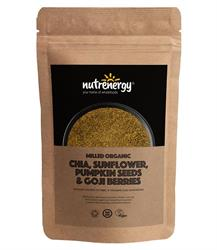Milled Organic Chia, Sunflower, Pumpkin Seed & Goji Blend 200g (order in singles or 15 for trade outer)