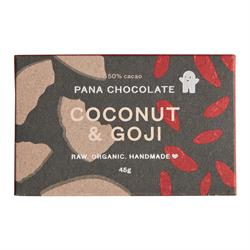 Coconut & Goji 50% Cacao 45g (order in singles or 12 for retail outer)