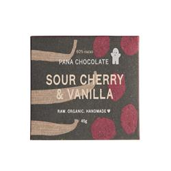 Sour Cherry &Vanilla 60% Cacao 45g (order in singles or 12 for retail outer)