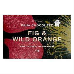 Fig & Wild Orange 70% Cacao 45g (order in singles or 12 for retail outer)