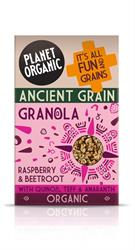 Planet Organic Ancient Grain Granola Raspberry & Beetroot (order in singles or 5 for trade outer)