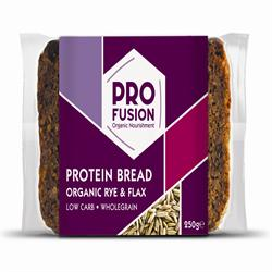 Profusion Organic Protein Bread - Rye & Flax 250g (order in singles or 9 for trade outer)