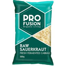 Profusion Organic Fresh Sauerkraut -unpasteurised 520g (order in singles or 20 for trade outer)