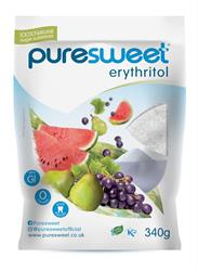 Puresweet Pure 100% Natural Erythritol 340g (order in singles or 8 for trade outer)