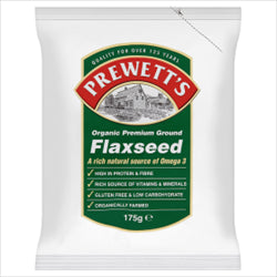 Organic Ground Flaxseed 175g (order 6 for retail outer)