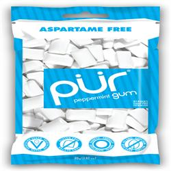 PUR Gum Peppermint Bag 77g 55 pieces (order in singles or 12 for retail outer)