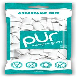 PUR Gum Wintergreen Bag 77g 55 pieces (order in singles or 12 for retail outer)