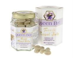 Queen Bee Royal Jelly 90 Caps (order in singles or 10 for trade outer)