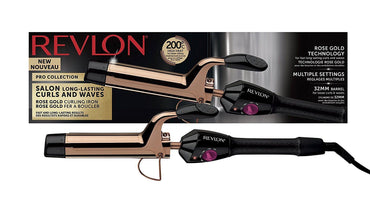 REVLON Curling Iron |Salon Curls & Waves| Rose Gold| 200c
