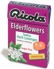 Elderflower Lozenges Sugar Free 45g (order in singles or 20 for retail outer)