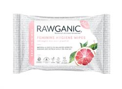 Rawganic Feminine Wipes 20 wipes (order in multiples of 5 or 20 for trade outer)