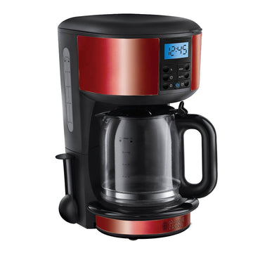 RUSSELL HOBBS Digital Coffee Maker | Legacy | 1.25L | Red