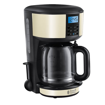 RUSSELL HOBBS Digital Coffee Maker | Legacy | 1.25L | Cream