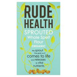 Rude Health Organic Sprouted Whole Spelt Flour 500g (order in singles or 5 for trade outer)