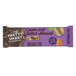 Organic Cacao & Salted Almond Maca Brownie Bar 30g (order 20 for retail outer)