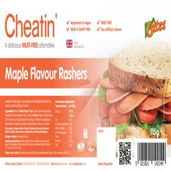 Cheatin' Maple Flavoured Rashers 115g