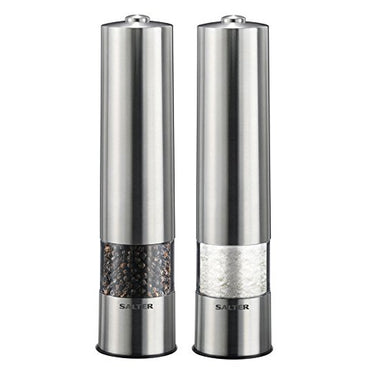 SALTER Salt & Pepper Mills Set | Stainless Steel