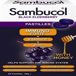20% OFF Sambucol Pastilles Immuno Forte Vitamin C and Zinc with Honey