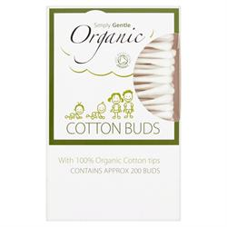 Organic Cotton Buds 200's (order in singles or 24 for trade outer)