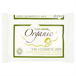 3 in 1 Cosmetic Wipe x 25 Wipes (order in singles or 12 for trade outer)