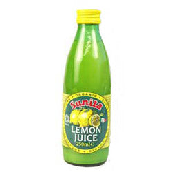 Organic Lemon Juice 250ml (order in singles or 12 for trade outer)