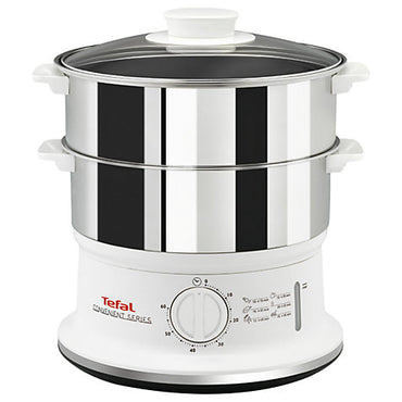 TEFAL Food Steamer | Compact | 900W | 6L | White