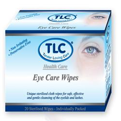 Eye Care Wipes 20's (order in singles or 12 for retail outer)