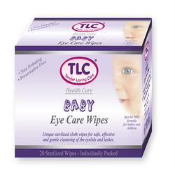 Eye Care Wipes Baby 20's (order in singles or 12 for retail outer)