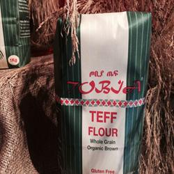 20% OFF Organic Brown Teff Flour 1000g (order in singles or 20 for trade outer)