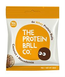 Whey Coconut & Macadamia Protein balls 45g (order 10 for retail outer)