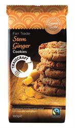 Stem Ginger Cookies 180g (order in singles or 8 for trade outer)