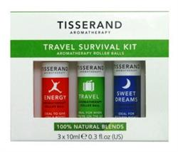 Tisserand Travel Survival Kit 3 x 10ml