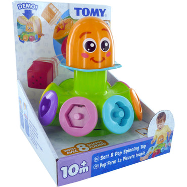TOMY Sort and Pop Spinning Top Octopus | 10m +