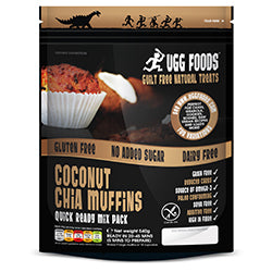 Coconut Chia Muffin Mix 540g (order in singles or 8 for trade outer)