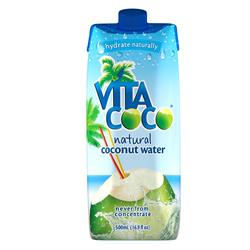 100% Natural Coconut Water 500ml (order in singles or 12 for trade outer)