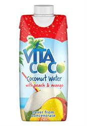 100% Natural Coconut Water with Peach & Mango 330ml (order in singles or 12 for trade outer)
