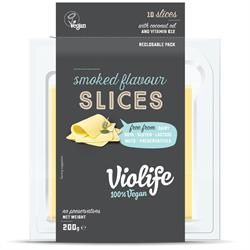 Violife Smoked Flavour Slices 200g (10 slices) (order in singles or 12 for retail outer)