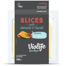 Violife Tomato & Basil Flavour Slices 200g (10 slices) (order in singles or 12 for trade outer)