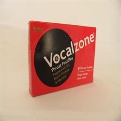 Vocalzone Throat Pastilles 24 Pastilles (order in singles or 12 for trade outer)
